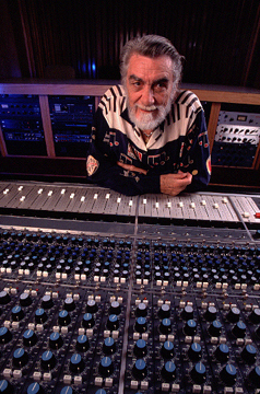 Tom Dowd,  music legend, whose magic touch at this mixing board  helped produce hits  for Eric Clapton and others
